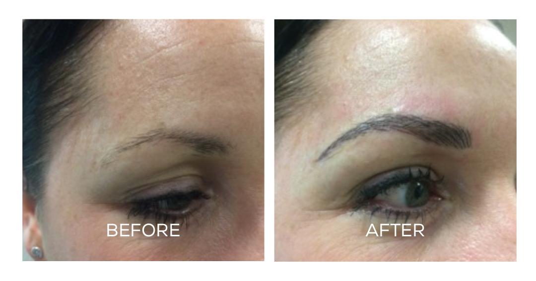 Permanent eyebrow before and after - Naomi O'Hara