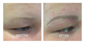 Microblading Blonde Eyebrows