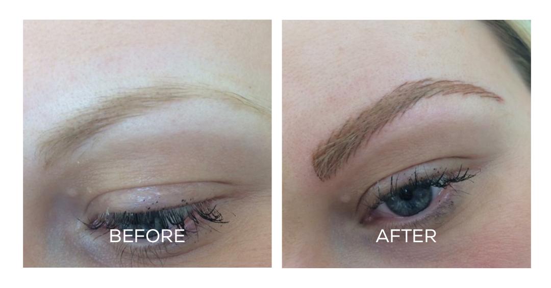 Microblading Blonde Eyebrows Naomi Ohara Permanent Makeup