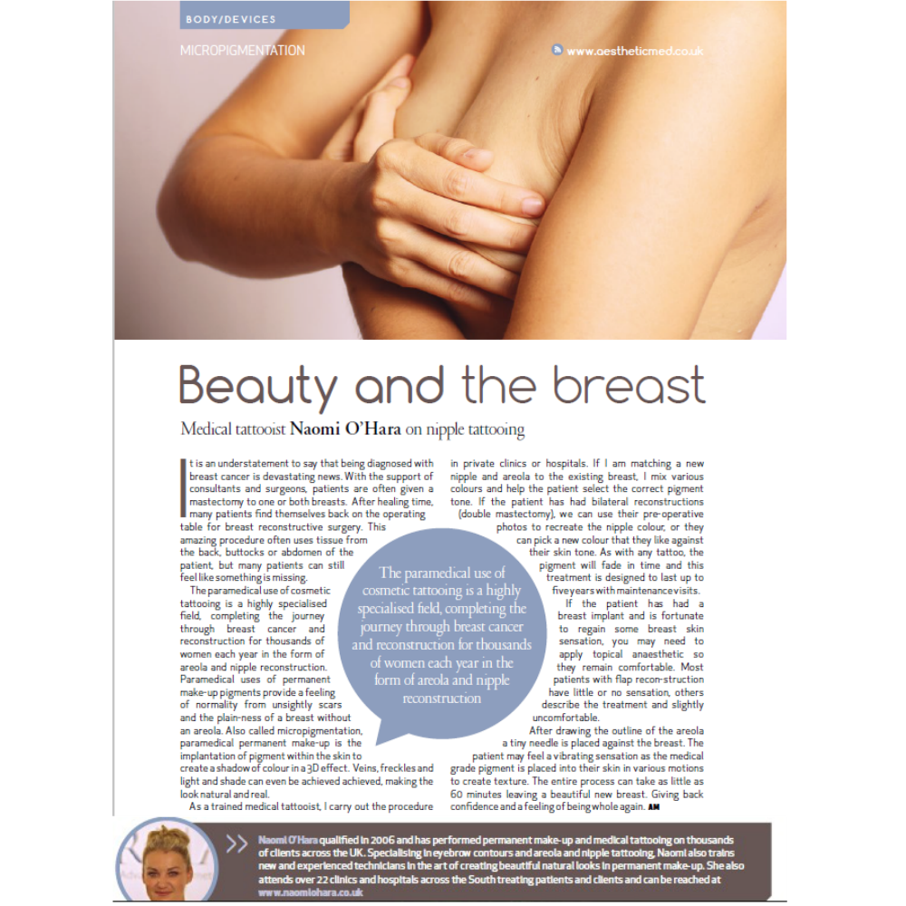 Breast Cancer and Cosmetic Tattooing